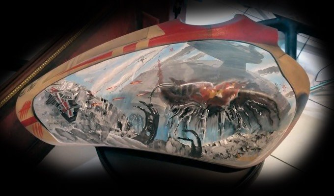 Star Wars Indian Motorcycle tank art by  Adam Natonio