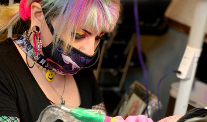 H&H Orlando tattoo artist Lacey Rose